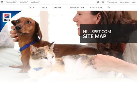 Screenshot of Site Map Page hillspet.com - Hillspet.com Sitemap | Hill's Pet - captured Nov. 2, 2017