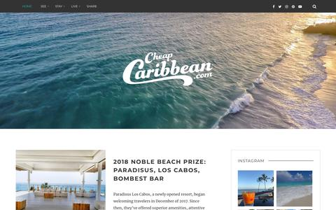Screenshot of Blog cheapcaribbean.com - Stories by CheapCaribbean - Vacations, Resorts, and All-Inclusive Packages - captured Sept. 21, 2018