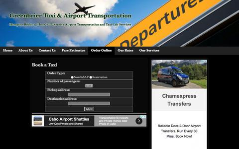 Book a Taxi | Greenbrier Taxi & Airport Transportation