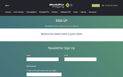 Screenshot of Signup Page multipix.com - Sign Up - Multipix Imaging - captured Jan. 24, 2016