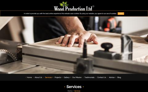 Screenshot of Services Page woodproduction.co.uk - Sash Wooden Windows London. Bespoke Joinery - Wood Production - captured Feb. 17, 2016