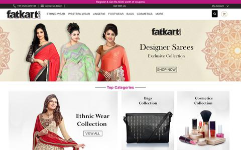 Screenshot of Home Page fatkart.com - Online Shopping India, Replica Clothes Shopping in Delhi - captured June 30, 2017