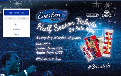 Screenshot of Home Page evertonfc.com - Home   Everton Football Club - captured Dec. 28, 2015