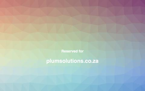 Screenshot of Home Page plumsolutions.co.za captured March 20, 2019