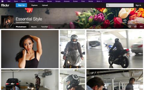 Screenshot of Flickr Page flickr.com - Flickr: EssentialStyleForMen's Photostream - captured Nov. 2, 2014