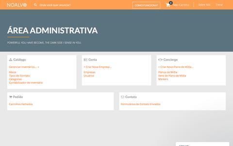 Screenshot of Menu Page midianoalvo.com.br captured Oct. 23, 2017
