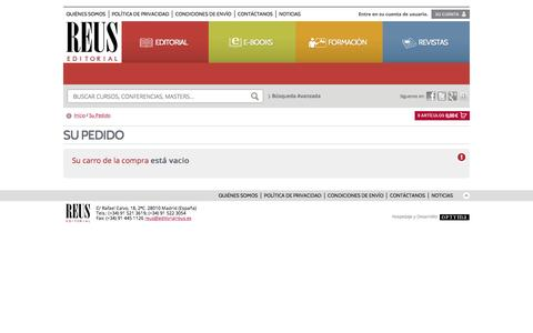 Screenshot of Login Page editorialreus.es - Editorial Reus: - captured May 15, 2017