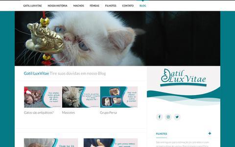 Screenshot of Blog gatilluxvitae.com - Blog   Gatil LuxVitae - captured Nov. 30, 2018