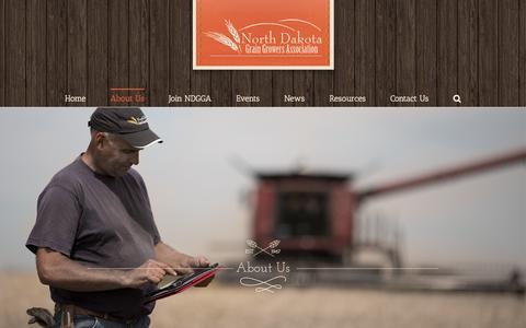 Screenshot of About Page ndgga.com - About Us - North Dakota Grain Growers Association - captured Dec. 1, 2016