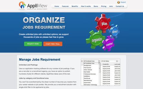 Screenshot of Jobs Page appliview.com - E-recruitment - Agency Software, Recruitment System, Recruitment Solution - captured Sept. 30, 2014