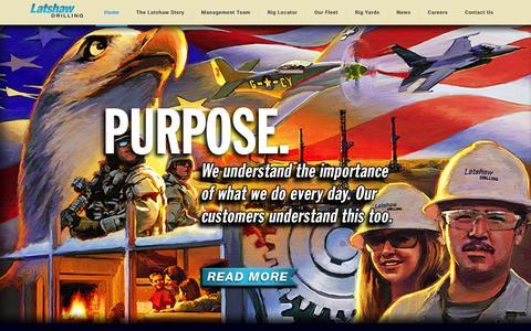 Screenshot of Home Page latshawdrilling.com - Latshaw Drilling - captured Dec. 2, 2015
