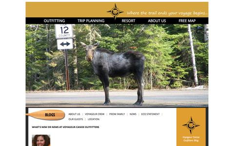 Screenshot of Press Page canoeit.com - Voyageur Canoe Outfitters - News - captured Feb. 15, 2016