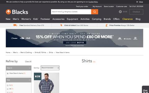 View New In Items | Men's | Men's Clothing | Shirts & T-Shirts | Shirts