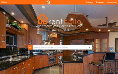 Screenshot of Home Page emg.ca - Rent Hello | Say hello to your new home - captured Nov. 9, 2018