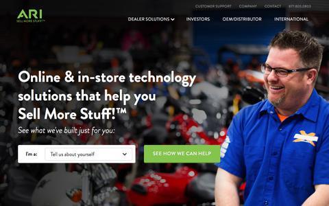 Screenshot of Home Page arinet.com - ARI Network Services  |  Dealer and Enterprise Websites, Lead Generation, Digital Marketing, Data Publishing & eCatalogs - captured June 7, 2017