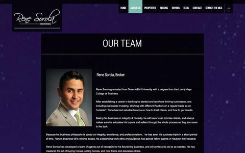 Screenshot of Team Page renesorola.com - Our Team | Rene Sorola Properties | Houston Luxury Real Estate Agency - captured Oct. 7, 2014