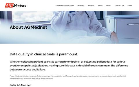 Screenshot of About Page agmednet.com - About AG Mednet - AG Mednet - captured Oct. 2, 2018