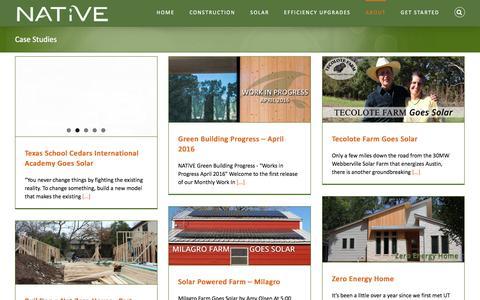 Screenshot of Case Studies Page buildnative.com - Case Studies Archives - NATiVE - captured Nov. 29, 2016