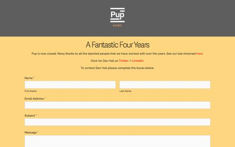 Screenshot of Services Page puplimited.com - Pup Ltd - captured Sept. 26, 2015