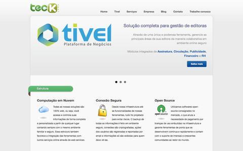 Screenshot of Home Page teck.com.br - Teck Labs - Softwares como serviço em nuvem - captured Oct. 7, 2014