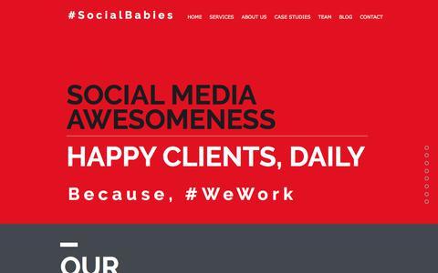 Screenshot of Home Page social-babies.com - Social Babies - Social Media Agency - captured Nov. 11, 2017