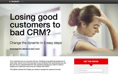 Screenshot of Landing Page sugarcrm.com - SugarCRM | Customer Journey eBook - captured June 14, 2016