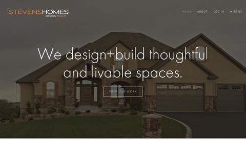 Screenshot of Home Page stevenshomes.com - STEVENS HOMES - captured Aug. 14, 2015