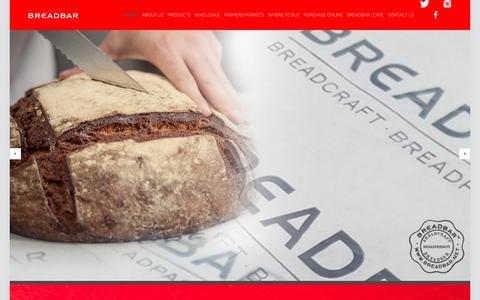 Screenshot of Home Page breadbar.net - BreadBar - fine artisanal breads, pastries & desserts - captured May 31, 2017