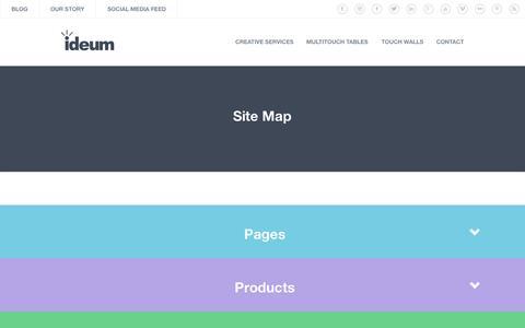 Screenshot of Site Map Page ideum.com - Site Map   Ideum - captured Nov. 18, 2015