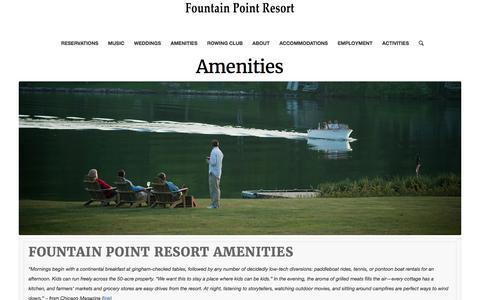 Amenities – Fountain Point Resort