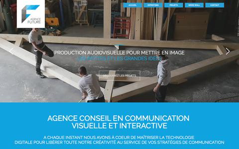 Screenshot of Home Page agence-future.com - Agence de communication prod vidéo et agence web annecy - captured Oct. 6, 2017