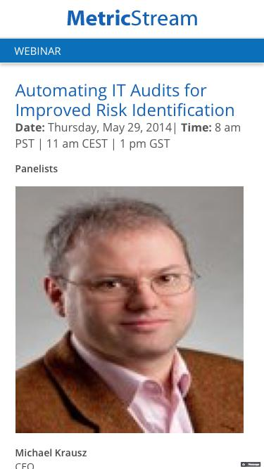 WEBINAR: Automating IT Audits for Improved Risk Identification