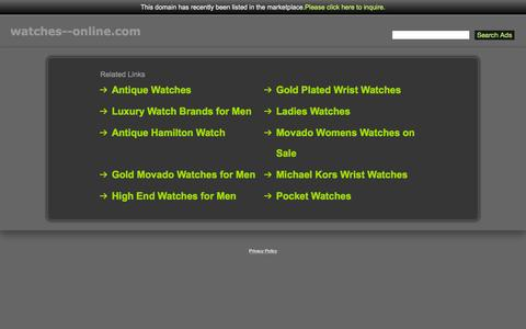 Screenshot of Home Page watches--online.com - Watches--Online.com - captured Aug. 29, 2015