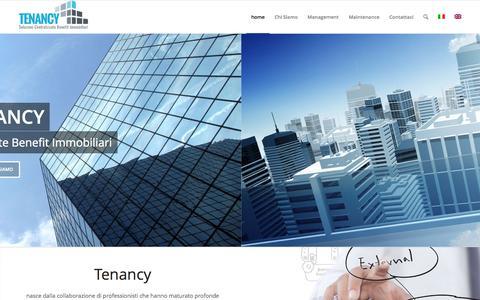 Screenshot of Home Page tenancy.it - Tenancy   Soluzioni Centralizzate Benefit Immobiliari - captured June 17, 2015