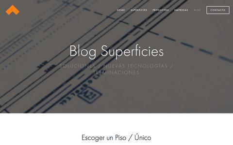 Screenshot of Blog superficies.cl - Blog — Superficies - captured Nov. 5, 2014
