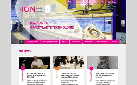 Screenshot of Contact Page visem.nl - Home | Vereniging ION - captured Oct. 22, 2014