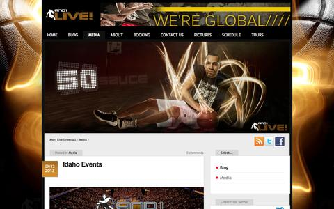 Screenshot of Press Page and1live.com - AND1 Live Streetball  – Media - captured Sept. 30, 2014