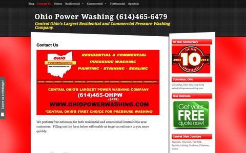 Screenshot of Contact Page ohiopowerwashing.com - Contact Us - Ohio Power Washing (614)465-6479 - captured Nov. 12, 2017