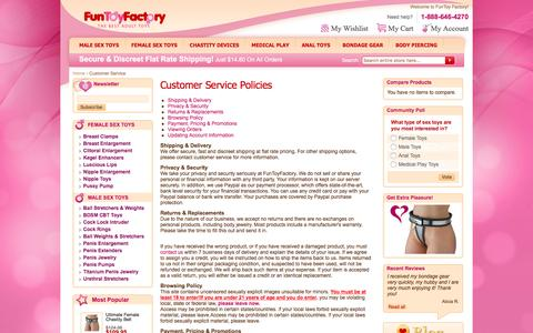 Screenshot of Privacy Page funtoyfactory.com - Customer Service - captured Feb. 10, 2016