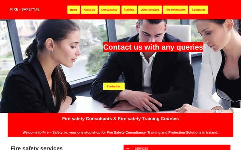 Screenshot of Home Page fire-safety.ie - Fire safety Consultants Dublin Ireland   Fire safety Training Courses - captured Nov. 25, 2016