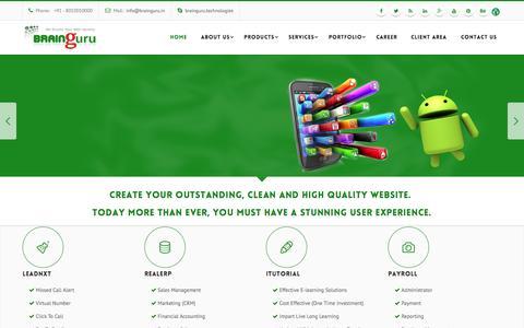 Screenshot of Home Page brainguru.in - Expert Web Development And SEO Company In India - captured Sept. 6, 2015