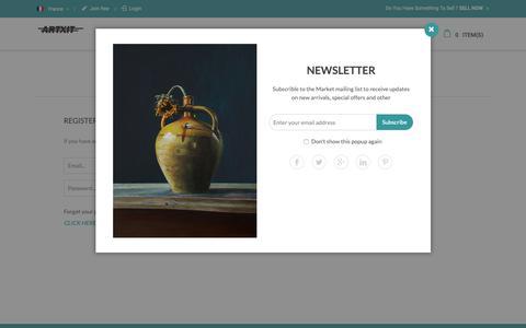 Screenshot of Login Page artxit.com - Customer Login - captured Dec. 18, 2018