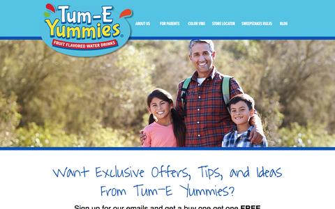 Screenshot of Signup Page tumeyummies.com - Sign Up for Emails from Tum-E Yummies - Tum-E Yummies Tum-E Yummies - captured Jan. 4, 2017