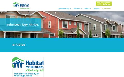 Screenshot of Blog habitatlv.org - Blog   Habitat Lehigh Valley - captured July 11, 2017
