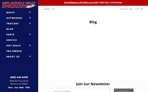 Screenshot of Blog inflatableboats.net - Blog - captured Oct. 11, 2018