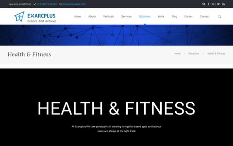 Health & Fitness - Exarcplus Mobile Apps Pvt Ltd.