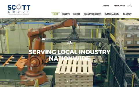 Screenshot of Home Page scottgroupltd.com - Scott Group | Industrial Supplies, Pallets, Packaging - captured Feb. 20, 2017
