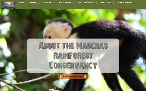 Screenshot of About Page maderasrfc.org - Maderas Rainforest Conservacy - About us - captured Feb. 4, 2016