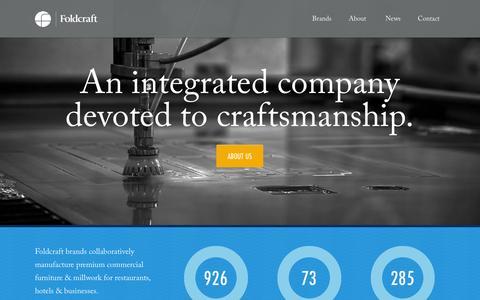 Screenshot of Home Page foldcraft.com - Foldcraft - captured Jan. 28, 2015