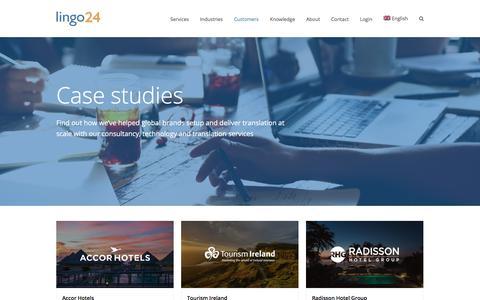 Screenshot of Case Studies Page lingo24.com - Case studies   Lingo24 translation clients - captured Sept. 12, 2018